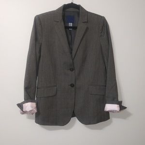 J.Crew wool 2 button pinstripe, lined blazer